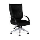 SoftCurve Hi-Back Executive Leather Chair - Loop Arms, CD00369