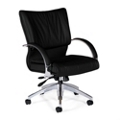 Leather Mid Back Conference Chair, 56877