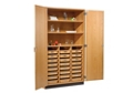 "Science Classroom Storage Cabinet with 24 Trays - 48""W, 36523"