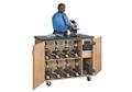 "Mobile Laboratory Microscope Charging Cabinet - 41.5""H, 36537"