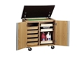 """Mobile Laboratory Storage Cabinet with Dry Erase Board Top - 36""""W, 36539"""