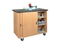 "Mobile Laboratory Storage Cabinet with Sliding Doors - 48""W, 36540"