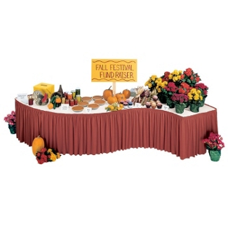 """Shirred Table Skirting - 16'W x 29""""H, 80390"""