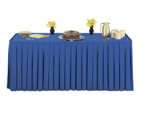 """Box Style Table Skirting - 108"""" x 29"""", 80422"""