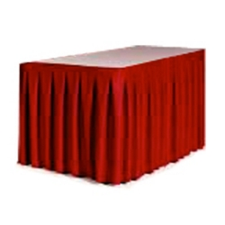"""Accordion Style Table Skirting - 144"""" x 29"""", 80431"""