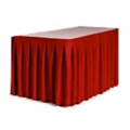 "Accordion Style Table Skirting - 144"" x 29"", 80431"