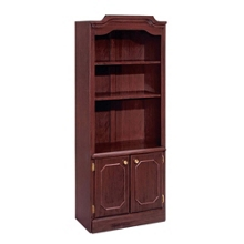 Traditional Bookcase with Doors, 13292
