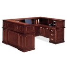 Traditional Reception U-Desk with Left Return, 13293
