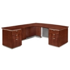 "Contemporary Bow Front L Desk with Left Return - 72""W x 80""D, 13595"