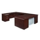 "Contemporary Executive Bow Front U Desk with Left Return - 72""W x 114""D, 13599"
