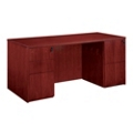 "Wood Veneer Executive Desk- 66""W x 30""D, 13612"