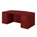 "Bow Front Executive Desk - 72""W x 39""D, 13614"
