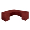 """Bow Front Executive L Desk with Right Return - 72""""W x 84""""D, 13617"""