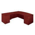 "Bow Front Executive L Desk with Left Return - 72""W x 84""D, 13618"
