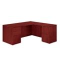 "Fully Reversible Wood Veneer L Desk - 66""W x 66""D, 13623"