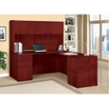 "Fully Reversible Compact Executive L Desk with Hutch- 66""W x 78""D , 13624"