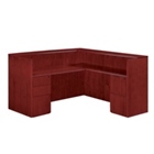 "Fully Reversible Reception L Desk - 72""W x 72""D, 13629"