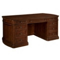 "Traditional Curved End Executive Desk - 72""W x 36""D, 13691"