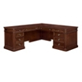 "Traditional Veneer L Desk with Left Return - 66""W x 78""D, 13704"