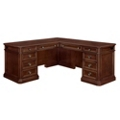 "Traditional Veneer Executive L Desk with Right Return - 72""W x 84""D, 13705"