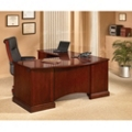 Bowfront Cherry Computer L-Desk with Left Return, 15196