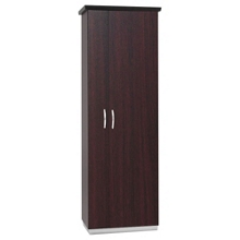 "72""H Five Shelf Storage Cabinet With Left Hand Wardrobe, 32975"