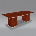 "Contemporary Boat Shape Conference Table - 96""W, 40002"