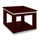 "Contemporary Wood Veneer End Table - 24""W x 24""D, 41041"