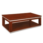 "Contemporary Wood Veneer Coffee Table - 50""W x 24""D, 41042"