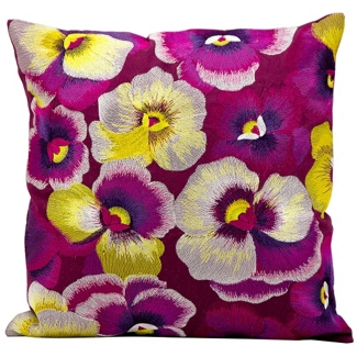 "kathy ireland by Nourison Pansy Square Pillow - 18"" x 18"", 82255"