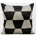 "kathy ireland by Nourison Checkered Square Pillow - 18"" x 18"", 82257"