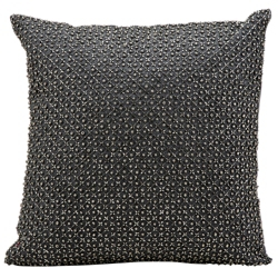 """kathy ireland by Nourison Beaded Square Accent Pillow - 16""""W x 16""""H, 82165"""