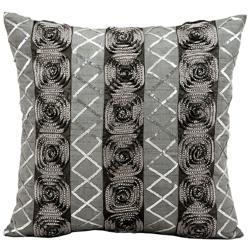 "kathy ireland by Nourison Rose Pattern Square Pillow - 16"" x 16"", 82258"