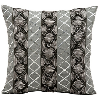 "kathy ireland by Nourison Rose Pattern Square Pillow - 16"" x 16"", 82258"
