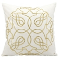"kathy ireland by Nourison Beaded Square Accent Pillow - 18""W x 18""H, 82167"