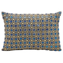 "kathy ireland by Nourison Marble Bead Accent Pillow - 14""W x 10""H, 82172"
