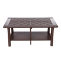 "Recycled Plastic Coffee Table with Diagonal Design- 38""Wx26""D, 41673"