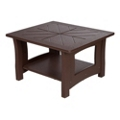 "Recycled Plastic End Table with Diagonal Design- 24""W x 24""D, 41674"
