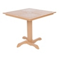 Recycled Plastic Outdoor Square Top Table , 41677