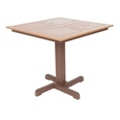 Recycled Plastic Outdoor Two Tone Square Top Table, 41678