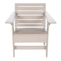 "Rounded Slat BackArm Chair - 24""W, 82116"