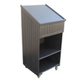 """Mobile Lectern with Sloped Lift-Top - 72""""W, 82128"""