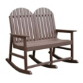 Recycled Plastic Double Seat Rocking Chair, 87302