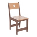 Recycled Plastic Two Tone Outdoor Cafe Dining Chair, 87309