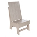 Recycled Plastic Outdoor High Back Side Chair , 87311