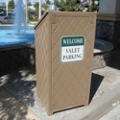 Recycled Plastic Outdoor Lectern with Covered Storage Area, 87314