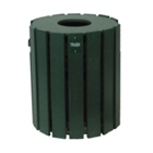 Recycled Plastic Outdoor Trash Bin - 20 Gallon, CD08647