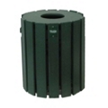 Recycled Plastic Outdoor Trash Bin - 20 Gallon, 87315