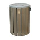 Recycled Plastic Outdoor Trash Bin - 32 Gallon, CD08648