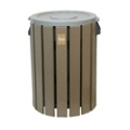 Recycled Plastic Outdoor Trash Bin - 32 Gallon, 87316